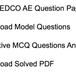TANGEDCO AE Previous Question Paper Download Electrical Civil Engineer