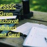 UPSSSC Gram Panchayat Adhikari Admit Card 2018 Exam Date VDO