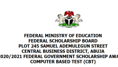 Photo of Federal Government Scholarship Awards 2020/2021 for Nigerians in Tertiary Institutions