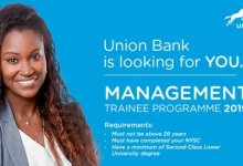 Photo of Union Bank Management Trainee Programme 2020 for Graduates