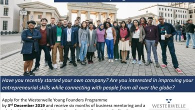 Photo of Westerwelle Young Founders Programme Spring 2020 for Entrepreneurs (Fully Funded to Berlin, Germany)