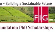 Photo of FIG Foundation PhD Scholarships 2020 for Surveying/Geomatics
