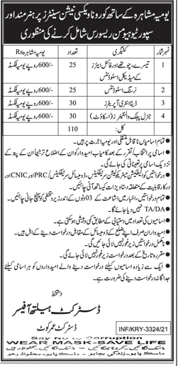 Sindh Government will announed 60000 Jobs in Health department in (H-R )Corona vaccination center