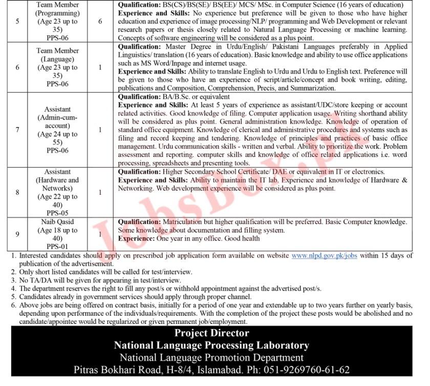 NLPD Jobs 2021