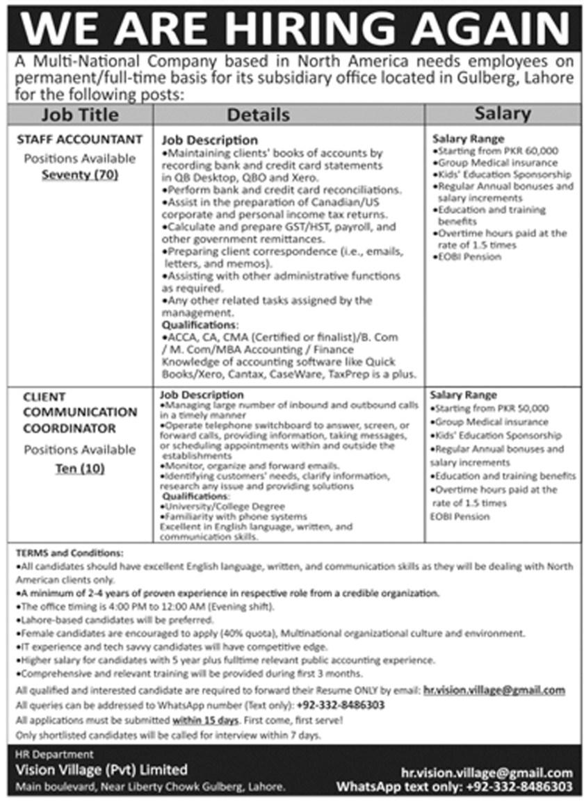 Accountant Jobs 2021 in Multinational Company (80+ Vacancies)