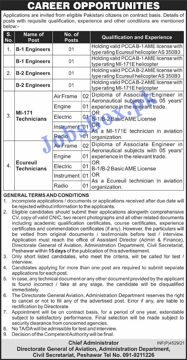 Directorate General of Aviation Jobs 2021