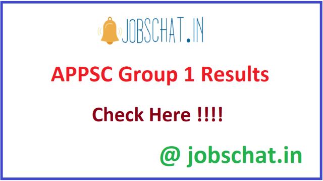 APPSC Group 1 परिणाम