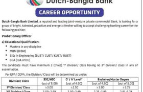 Dutch Bangla Bank Job Circular 2019