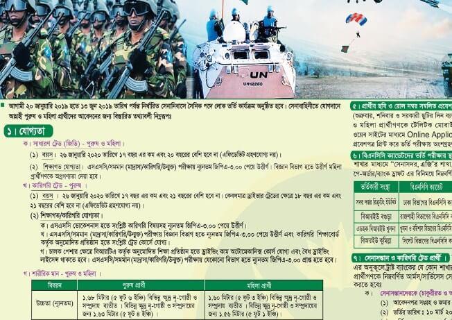 bangladesh army jobs circular 2019 join bangladesh army