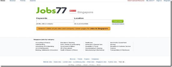 Singapore Jobs77