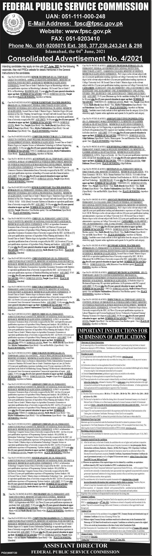 FPSC jobs 21