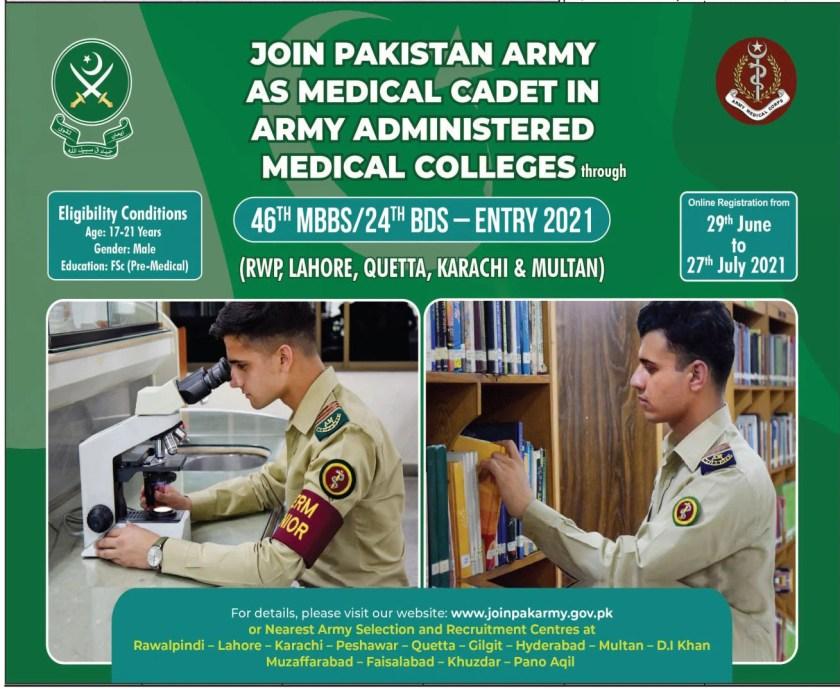 Pakistan Army Jobs 2021 Advertisement Apply Online