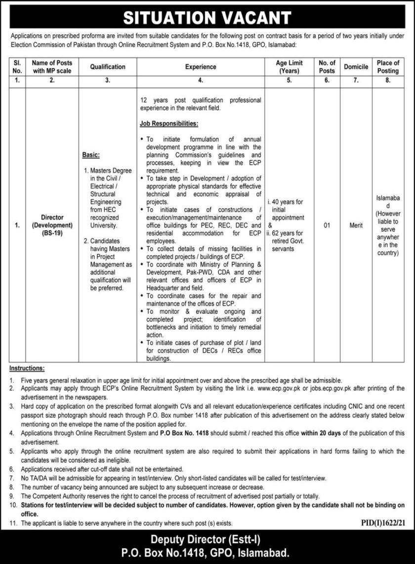 Federal Government Jobs 2021 Islamabad