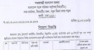 Bangladesh Road Transport Authority (BRTA) Job Circular 2019