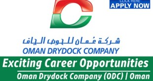 Oman Drydock Company Careers & Jobs