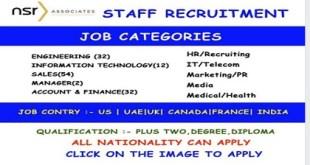 Jobs Vacancy – Career Opportunities In NSR ASSOCIATES |World Wide
