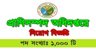 Department of Livestock published a Job Circular