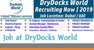 Job Vacancies at DryDocks World