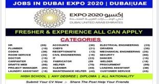 DUBAI EXPO 2020 STAFF RECRUITMENT