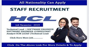 HIRING STAFF AT HCL