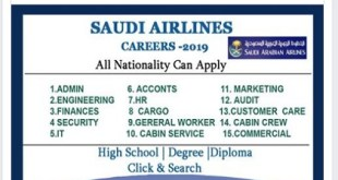 Jobs @SAUDI ARABIAN AIRLINES 2019