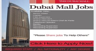 New Job Vacancies! DUBAI MALL