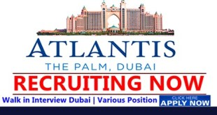 Atlantis The Palm Dubai Job Vacancies 2019