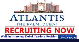 Atlantis The Palm Dubai Job Vacancies 2019
