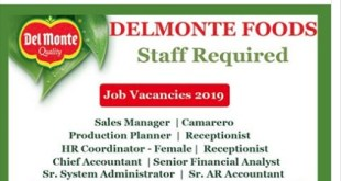 HIRING NOW! DELMONTE FOODS