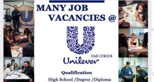 MANY JOB VACANCIES @ UNILEVER