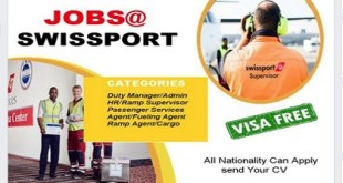 NEW JOB OPENINGS AT SWISSPORT!! SUBMIT CV NOW!!