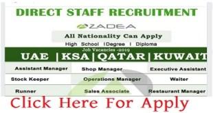 MANY JOB VACANCIES AT AZADEA