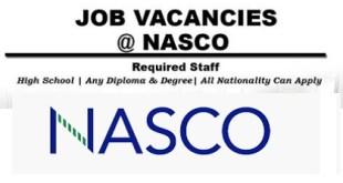 JOBS VACANCIES AT NASCO