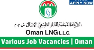 Oman Liquefied Natural Gas LLC (Oman LNG) Job Vacancies