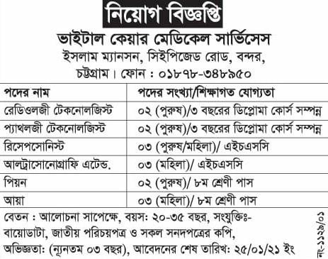 Chittagong Private Job Circular