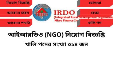 IRDOBD NGO Job Circular BD 2021