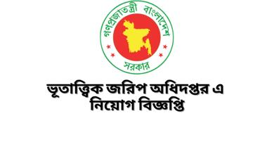 Job Circular at Geological Survey Department