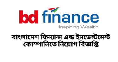 Job Circular at Bangladesh Finance And Investment Company Limited