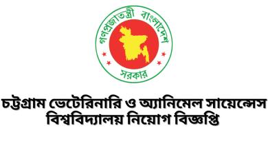 Chittagong Veterinary and Animal Sciences University Job Circular
