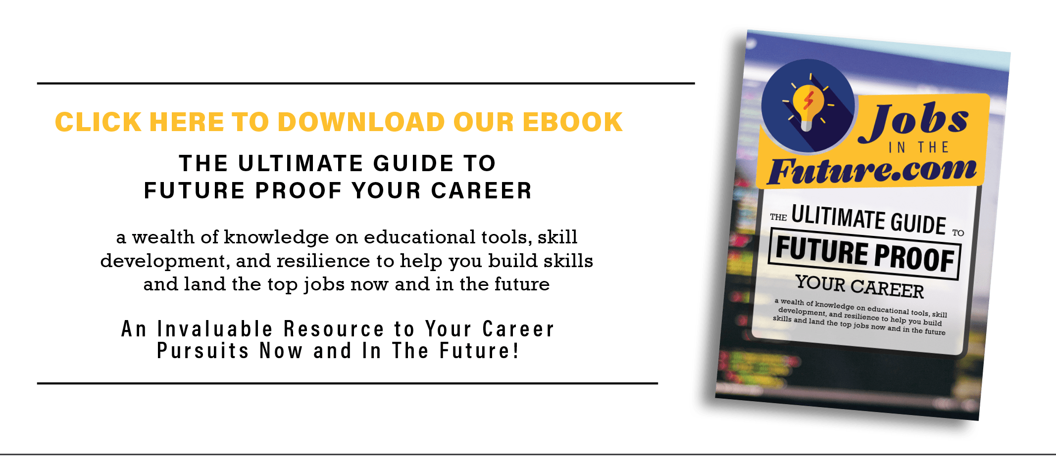 learn how to future proof your career with this ebook!