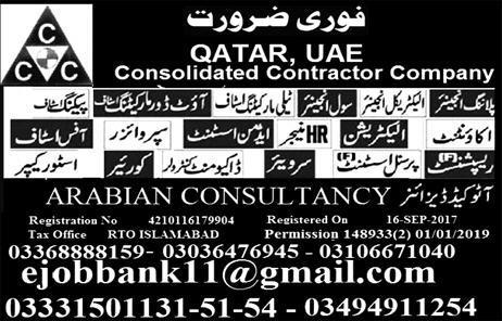 Qatar consolidated contractors company jobs | JobsinUrdu