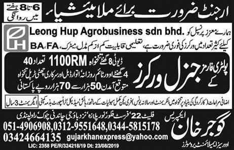 Malaysia Poultry Farm Workers Jobs Advertisement
