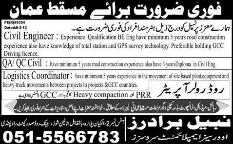 Oman Civil Engineer Jobs