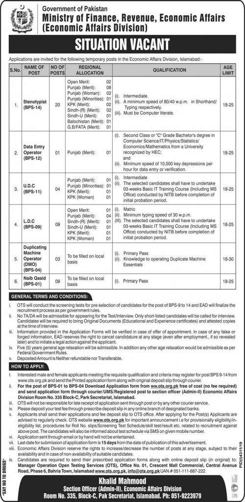 Ministry of Finance Jobs 2020