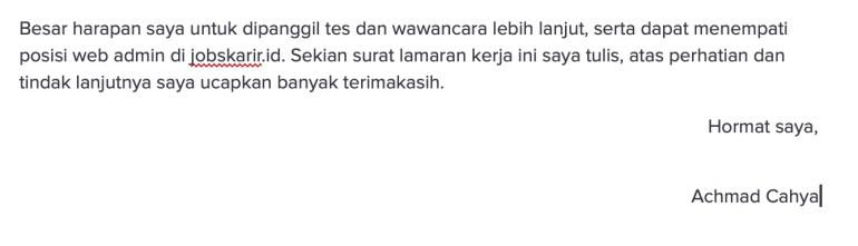 siap interview ttd surat lamaran kerja indonesia