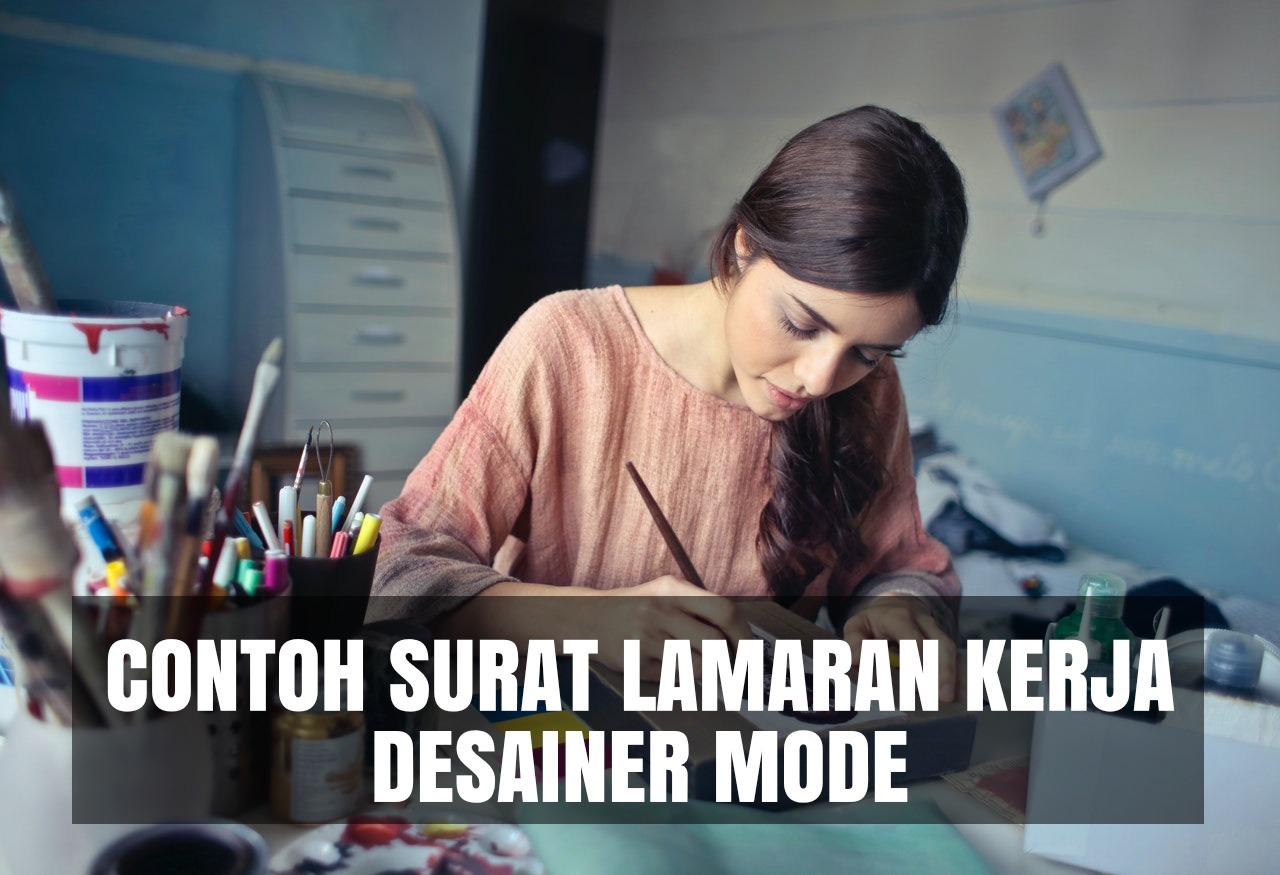 contoh cover letter desainer mode
