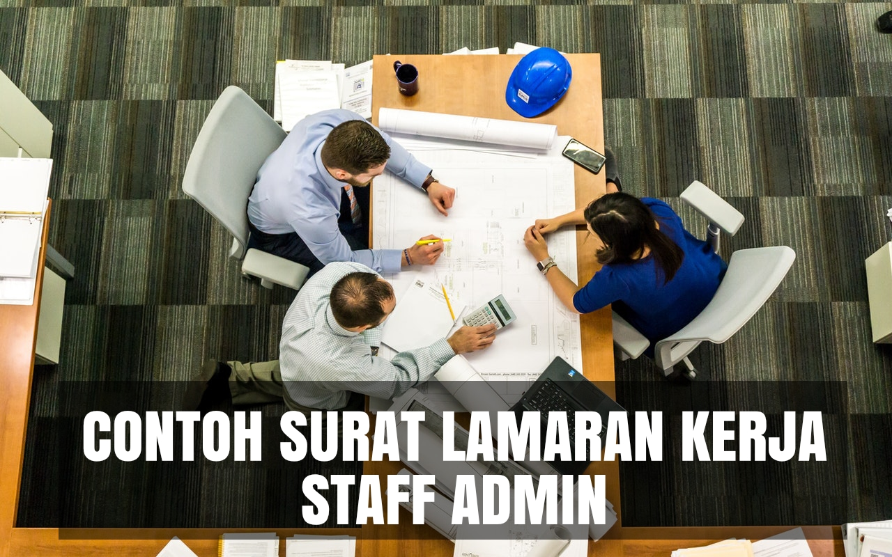 contoh cover letter staff admin
