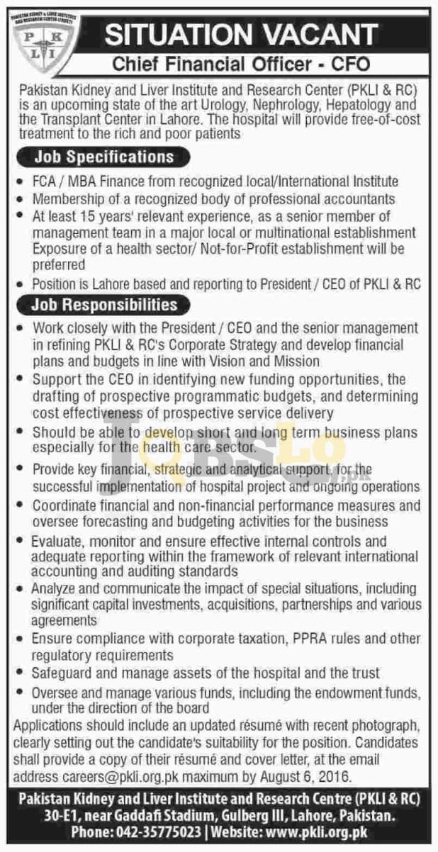 PKLI & RC Jobs