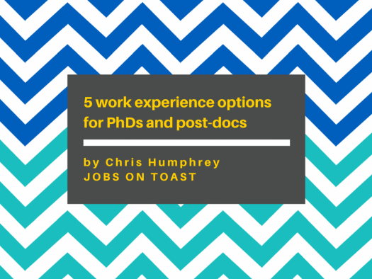 5 work experience options for PhDs and post-docs | Jobs on Toast