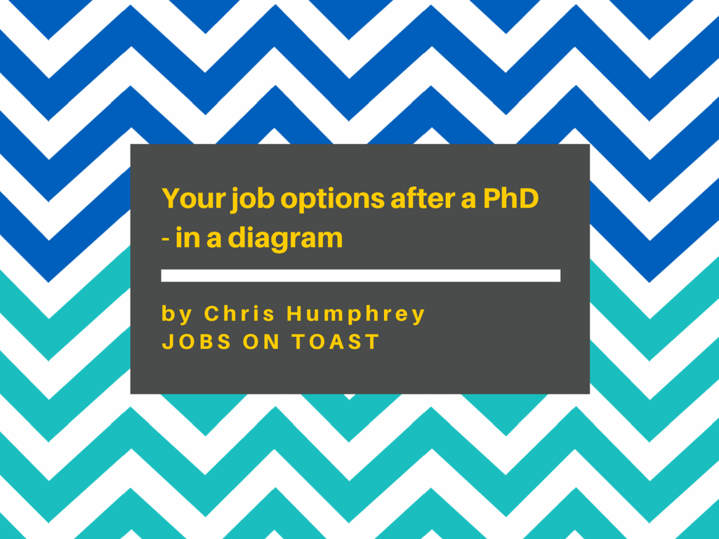 Your job options after a PhD - in a diagram | Jobs on Toast